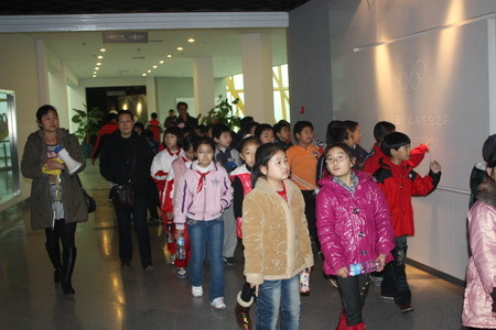 Students from Tianjin Dongdao Primary School paid a visit to Olympic Museum